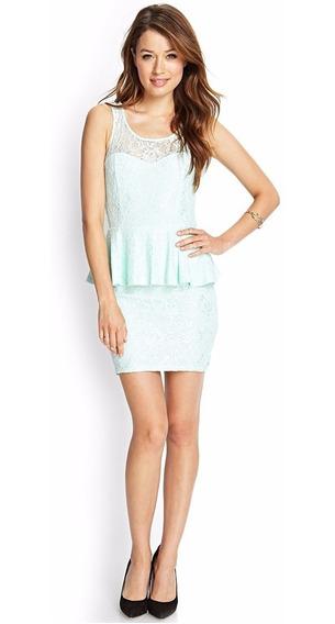 Vestido De Guipiure Color Menta Forever 21