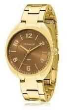 Relógio Feminino Technos Dourado Elegance / Aço Inoxidável