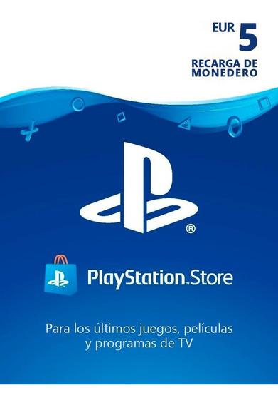 Tarjeta De Regalo España Psn 5 Euros Playstation Gift Card