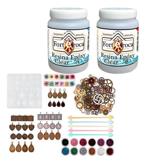 Resina Epoxy-clear + Moldes Flexibles Craft Set Kit07