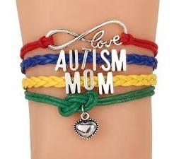 Pulseira Couro Amor Infinito Autismo Mãe