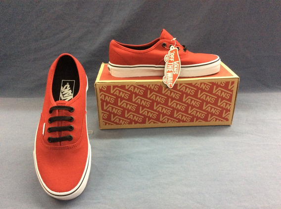 Tenis Vans Authentic Rojo Modelo Unjv2ka