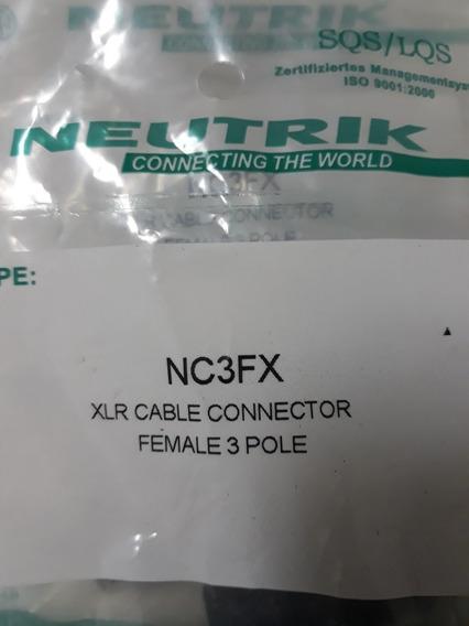 Kit Plugs Neutrik Macho E Fêmea De Linha Xlr Originais.