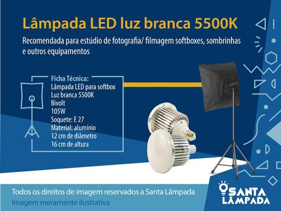 Lâmpada Led Luz Branca 5500k 105w Para Softbox