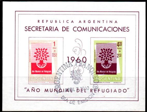 Argentina 1960. Año Mundial Del Refugiado Retintado Al Dorso