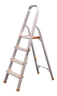Escalera 4 Escalones Familar Hogareña Aluminio 1,29 Lusqtoff