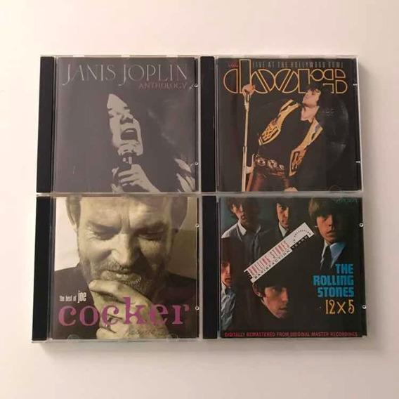 Lote De Cds Rock Janis Joplin The Doors Rolling Stones