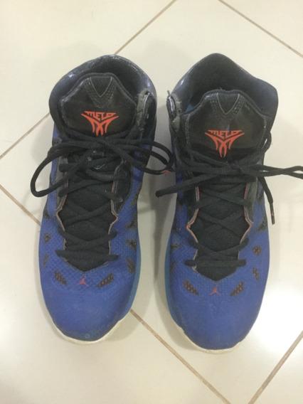 Tênis Nike Jordan Advance Cano Alto Comprei Em Nyc Azul 42