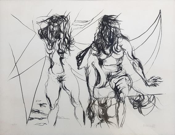 Flávio De Carvalho Serigrafia Exemplar Nº 2/50 48,5 X 61 Cm
