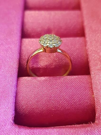 Anel Ouro Com Diamantes Vivara Coleção Pave