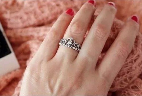 1 Anel Prata 925 Tiara De Princesa Coroa Estilo Pandora