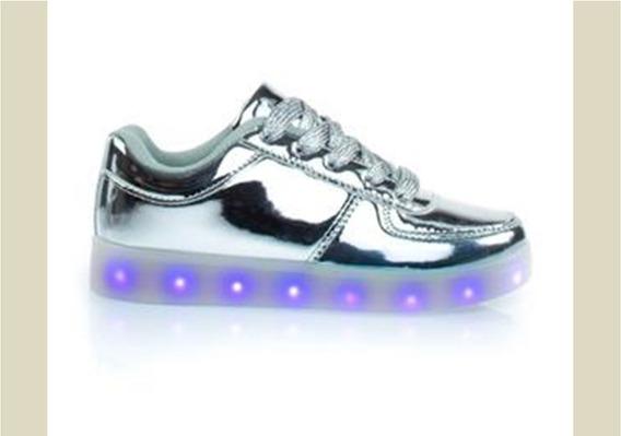 Zapatos De Niñas Luces Led (25 Verdes) Recargables 27 Al 31
