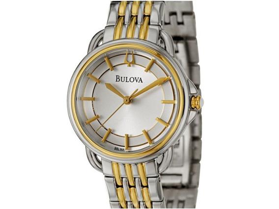 Relógio Bulova 98l165 Dois Tons, Prata E Dourado.