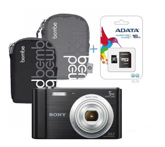 Sony W800 Cámara Digital +memoria 16gb Y Estuche -20 Mpix
