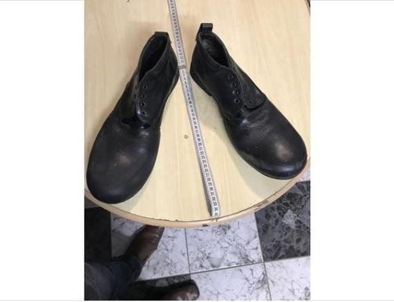 Sapato Grande Palhaço Chaplin Artístico De Couro Ótimo