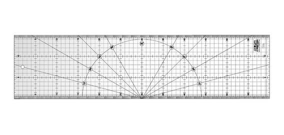 Regla Acrilica Olfa Mqr 15x60cm P/patchwork Microcentro