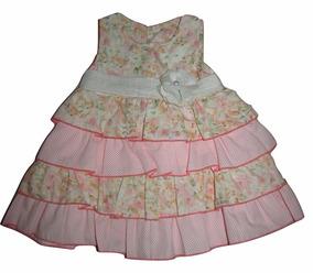 Vestido Para Bebê Babados