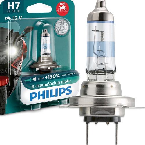 Imagem 1 de 6 de Lâmpada Philips X-treme Vision Moto H7 12v 3350k 55w