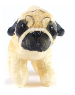 Peluche Perro Pug Beige 25cm