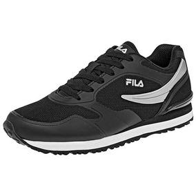 Tenis Sneaker Fila Forerunner Niños Textil Negro K48588 Dtt