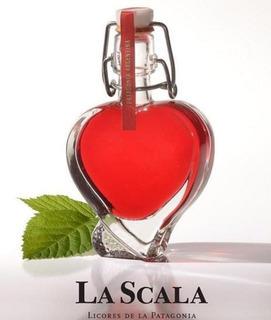 Licor Frambuesa Con Forma De Corazón