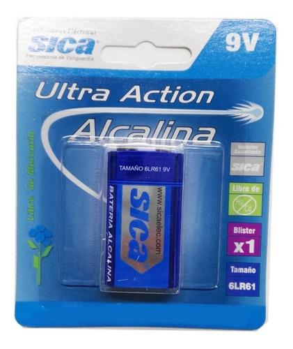 Bateria Alcalina 9v Sica
