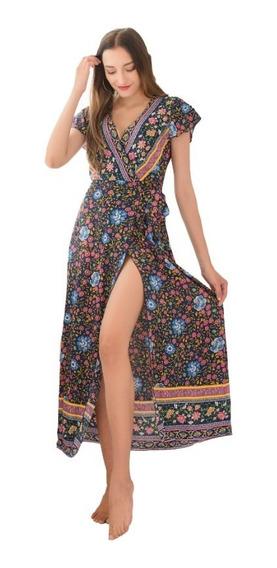 Vestido Boho Largo Importado Ciudad Casual Selena69