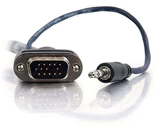 Imagen 1 de 4 de C2gcables Para Ir 40178 Vga Cable Av De 35 Mm Con Conectores