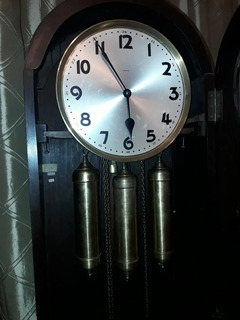 Antiguo Reloj De Pie Carrillon - Excelente Pieza