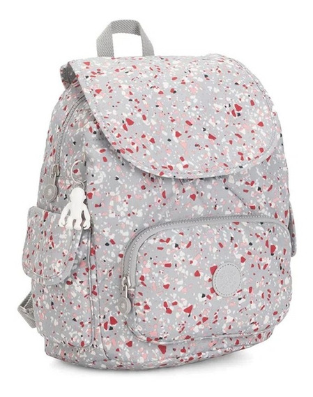Mochila Social Média City Pack S Kipling Estampa Speckled