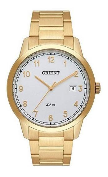 Relógio Orient Masculino Ref: Mgss1185 S2kx Social Dourado