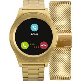 Relógio Technos Connect Srae/4p Dourado Full Display
