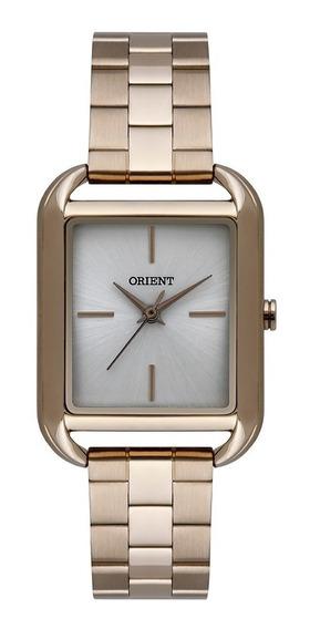 Relógio Orient Feminino Quadrado Dourado Prata Lgss0055 S1kx