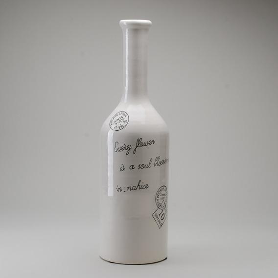 Botella De Ceramica Recta