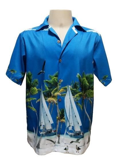 Camisa Masculina Hawaiana 0096 Verifique Medidas