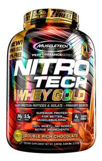 Nitrotech Whey Gold 5,53 Lb 2,5 Kg Muscletech Proteína Aislada Sin Tacc