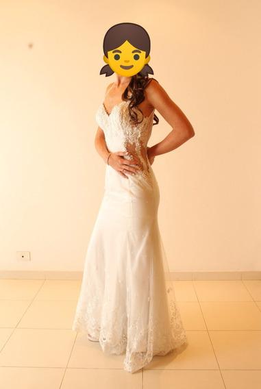 Vestido De Novia - Modelo Sirena Con Espalda Escotada