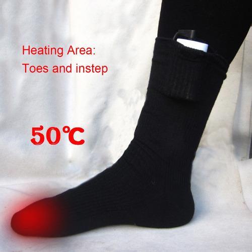 adecuados para Mantenerse Calientes al Aire Libre en Invierno Ewha Calcetines calefactores el/éctricos Calcetines calefactores para Hombres y Mujeres