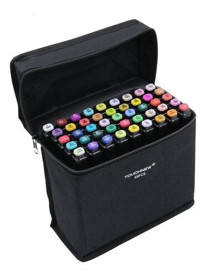 Touch Five Marker Pen Kit De 80 Colores Común Negro