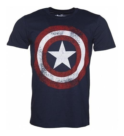 Tamanhos Grande Nobres Camiseta Masculina Capitão América