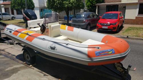 Semirrigido Callegari 410 50 Hp Excelente Nautica Miliome