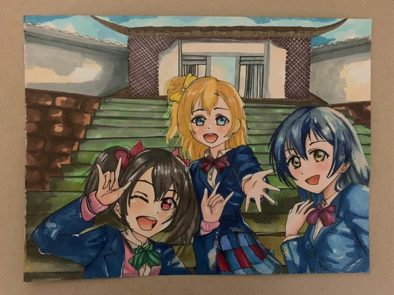 Dibujos Anime Love Live! School Idol Nico, Umi, Honoka