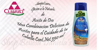 Shampoo Cuarzo Capilar De Aceite De Oso 550 Ml