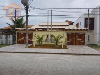 Casa Residencial Lado Praia Com Piscina À Venda, Balneário Califórnia, Itanhaém. - Ca0018