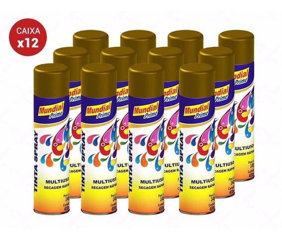 Tinta Spray Automotiva Uso Geral 400ml Cores Metálicas Cx 12