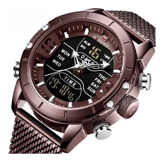 Relógio Masculino Naviforce 9153 Esporte Militar Alarme