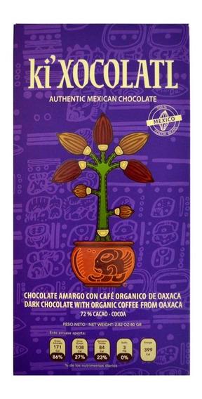 Ki Xocolatl Morado 72% Cacao Cafe Oaxaca, Natural, Orgánico
