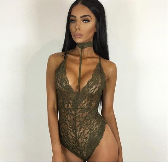 Lenceria Body Suit Encaje Mujer Sexy