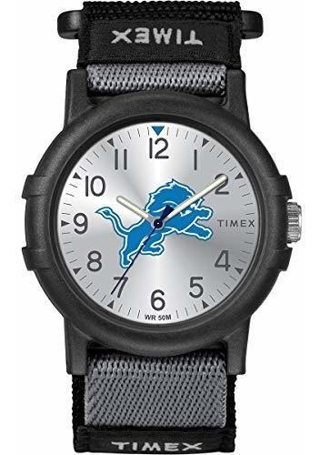 Timex Reloj Tribute Collection Nfl Leones De Detroit Negro