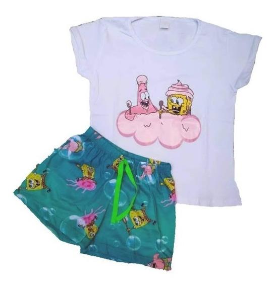 Pijama Bob Esponja Niña Regalo Oferta Algodón Spongebob